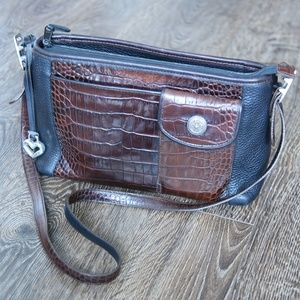 BRIGHTON shoulder bag with crocodile leather